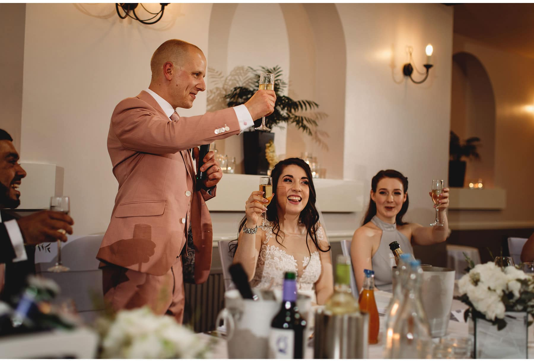 the groom making a toast