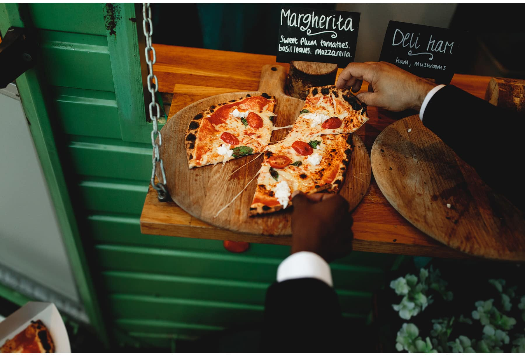 wood fired pizza at Hothorpe Hall