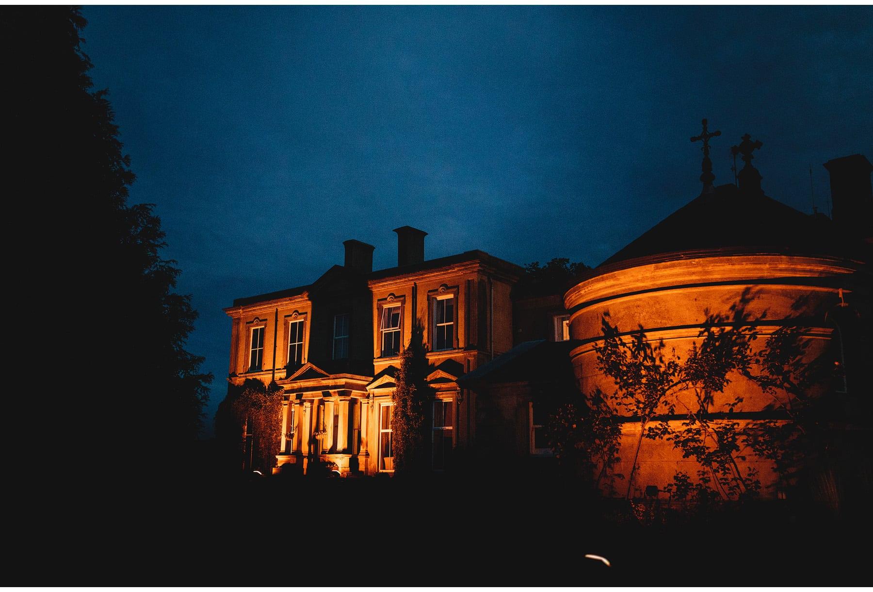 Hothorpe Hall weddings at night