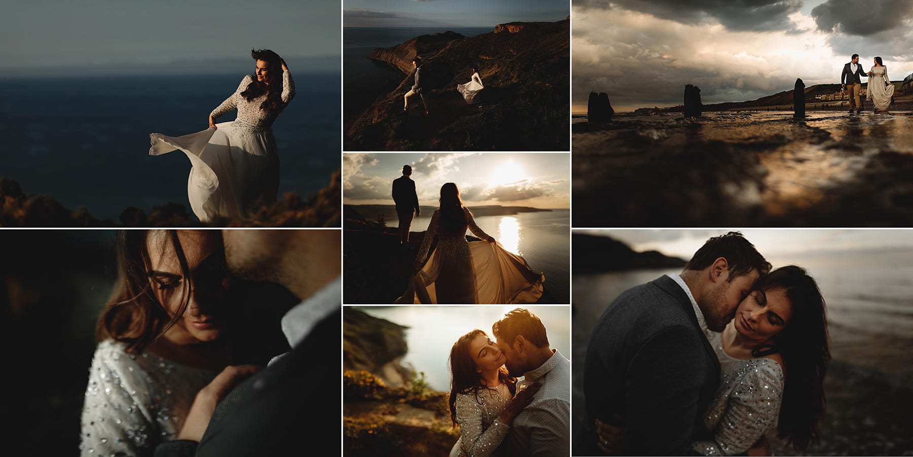 Wedding photography by the beach in whitby