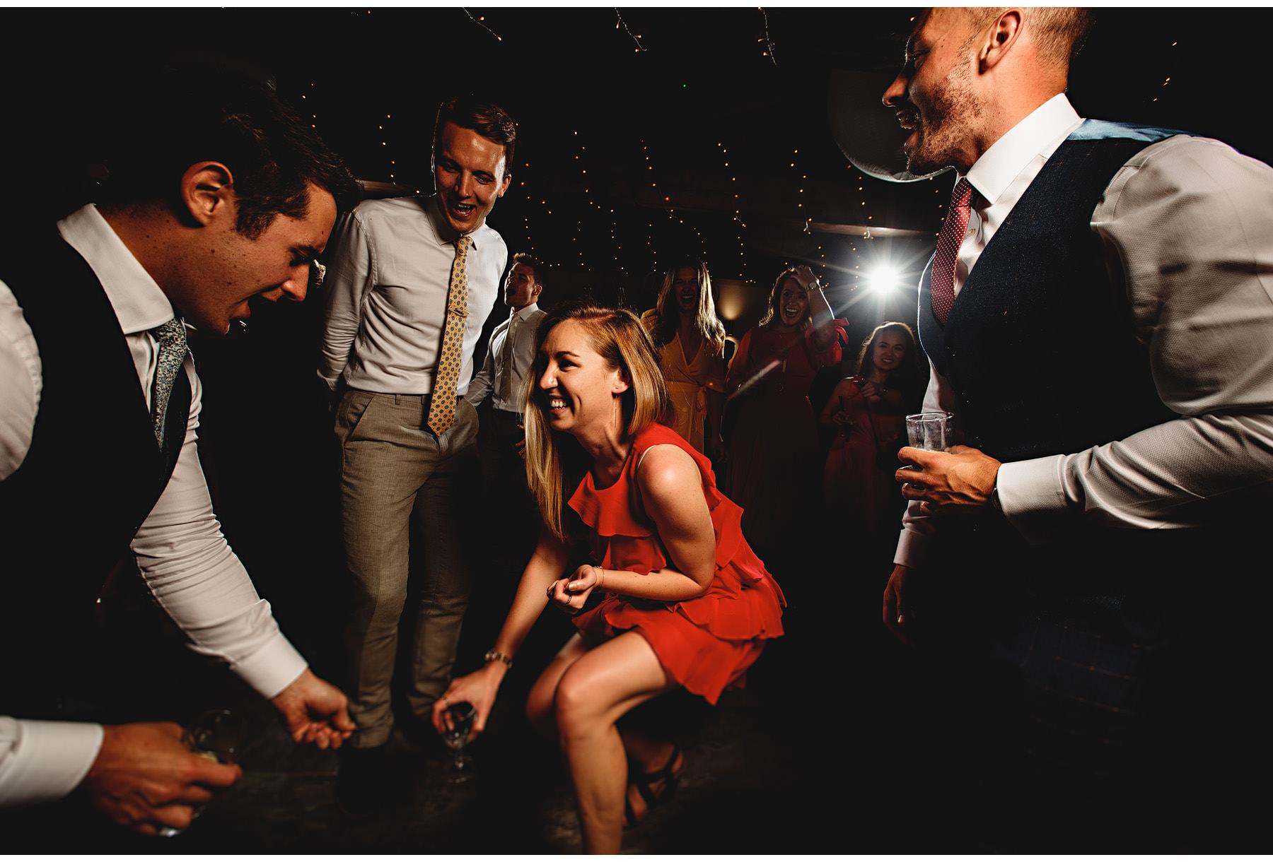 wedding guests dancing at Sheffield Manor