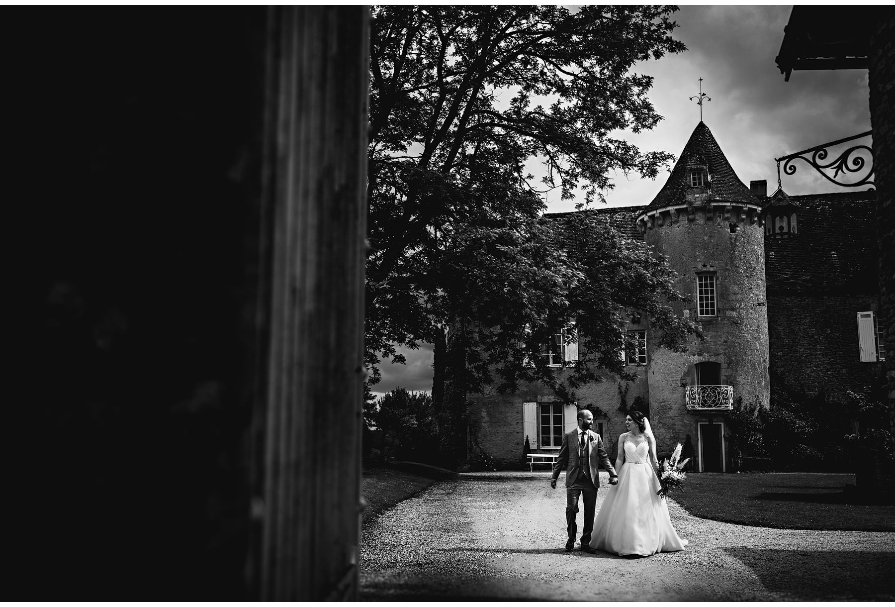 wedding photos at Château Cazenac