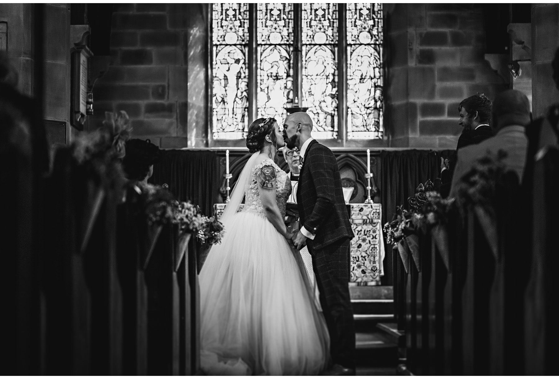 the first kiss as husband and wife in church