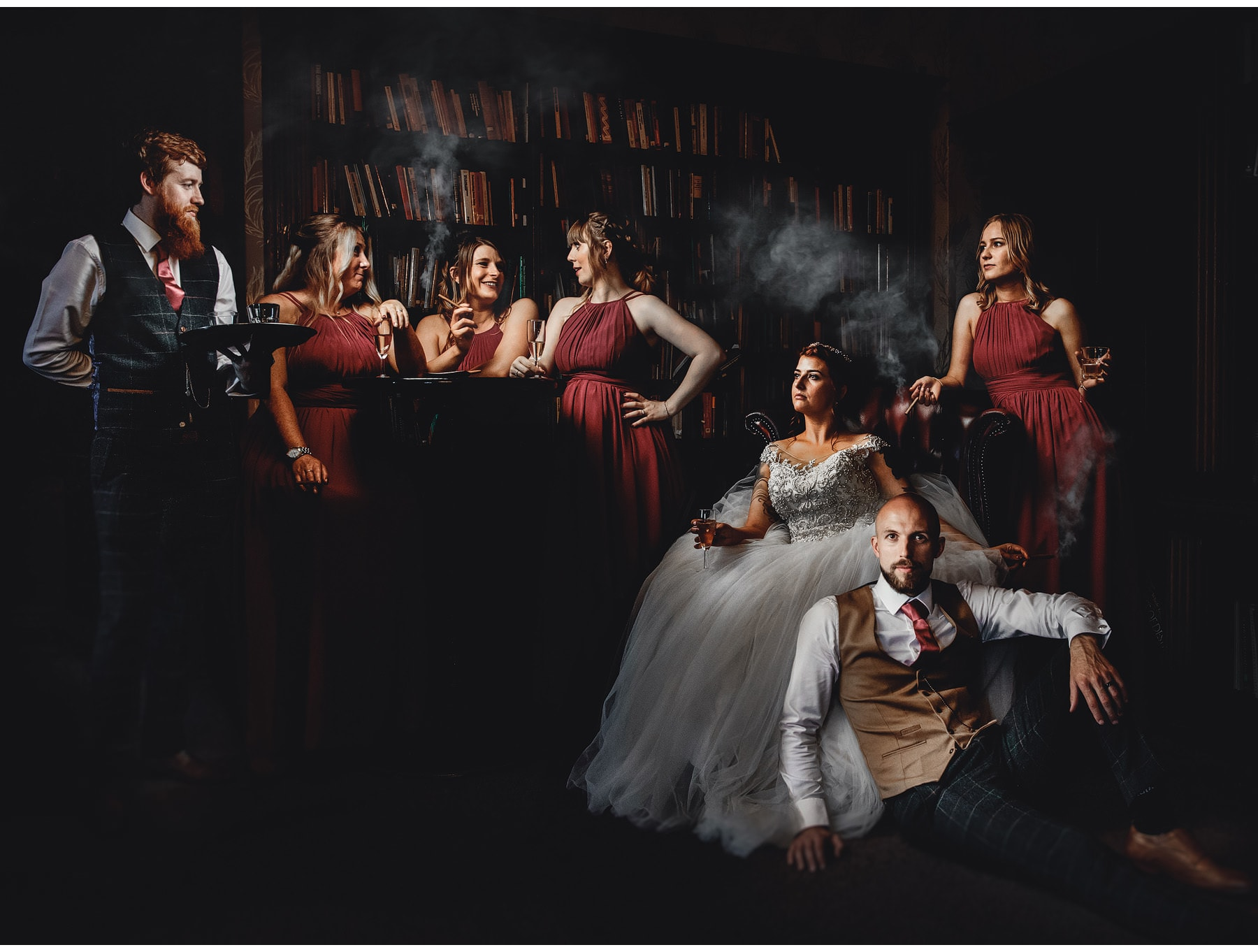 a bridal party photo