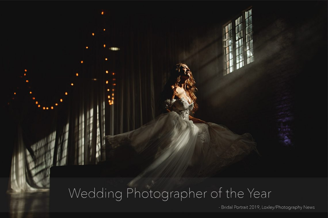 a bridal portrait image spinning with an amazing wedding dress