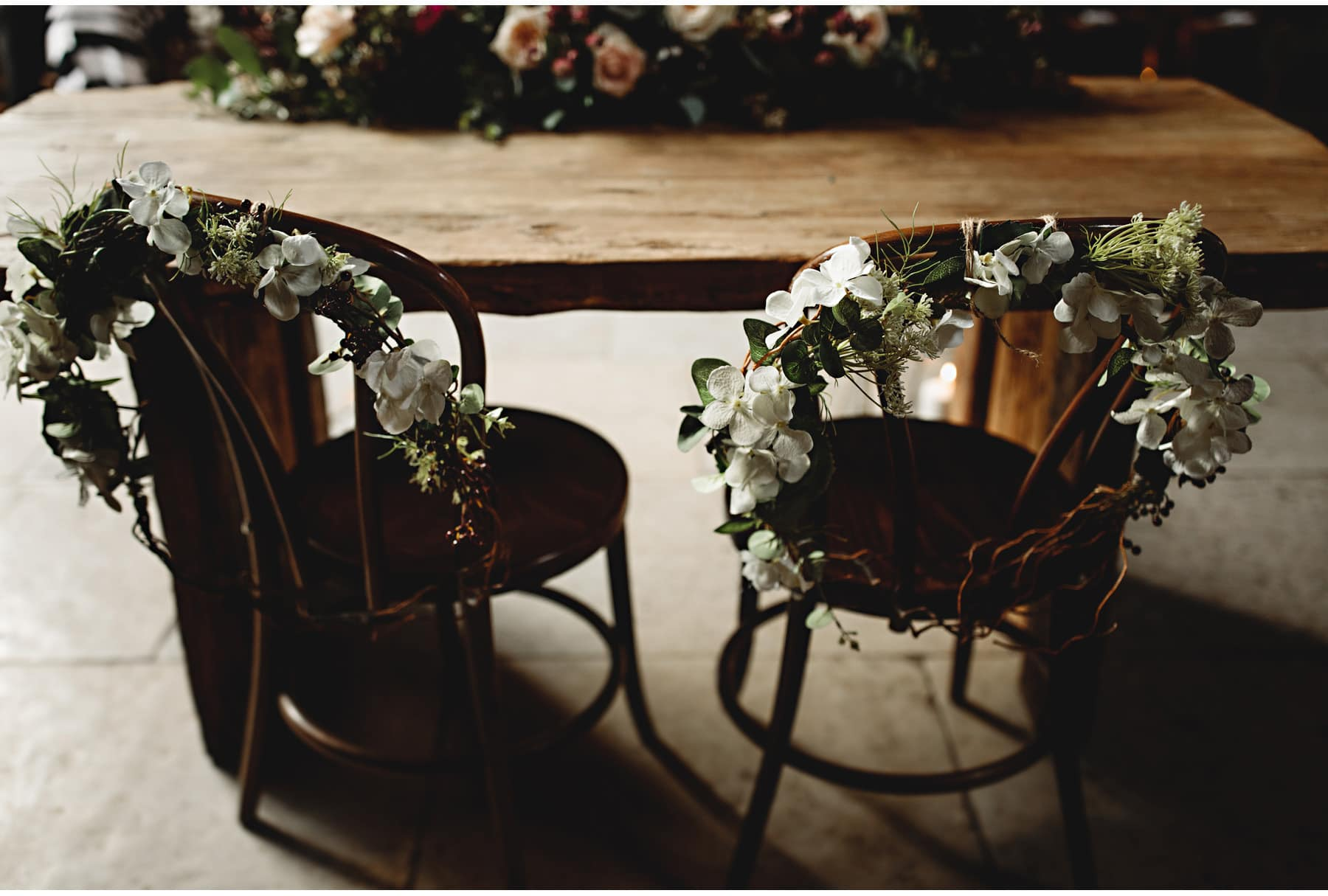 the bride & groom's chairs for the ceremony
