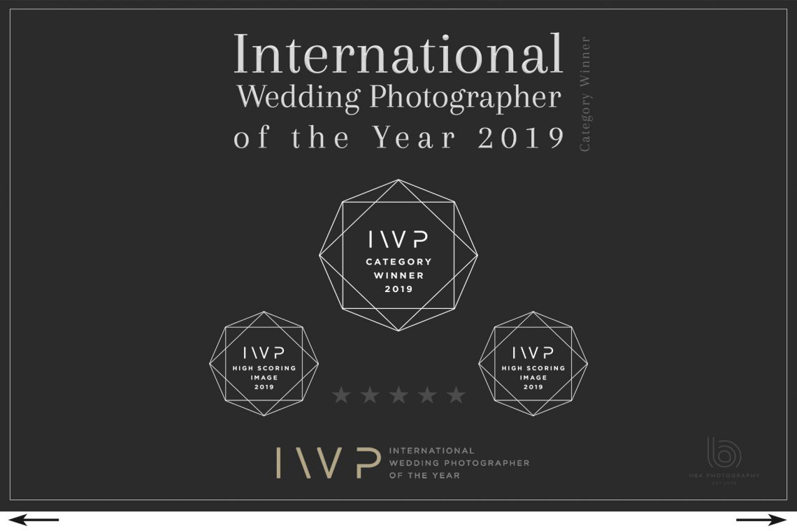 awards logo for internation wedding photographer of the year