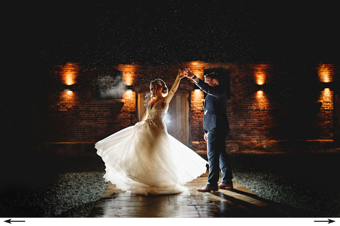 its ok to dance in the rain in your wedding dress