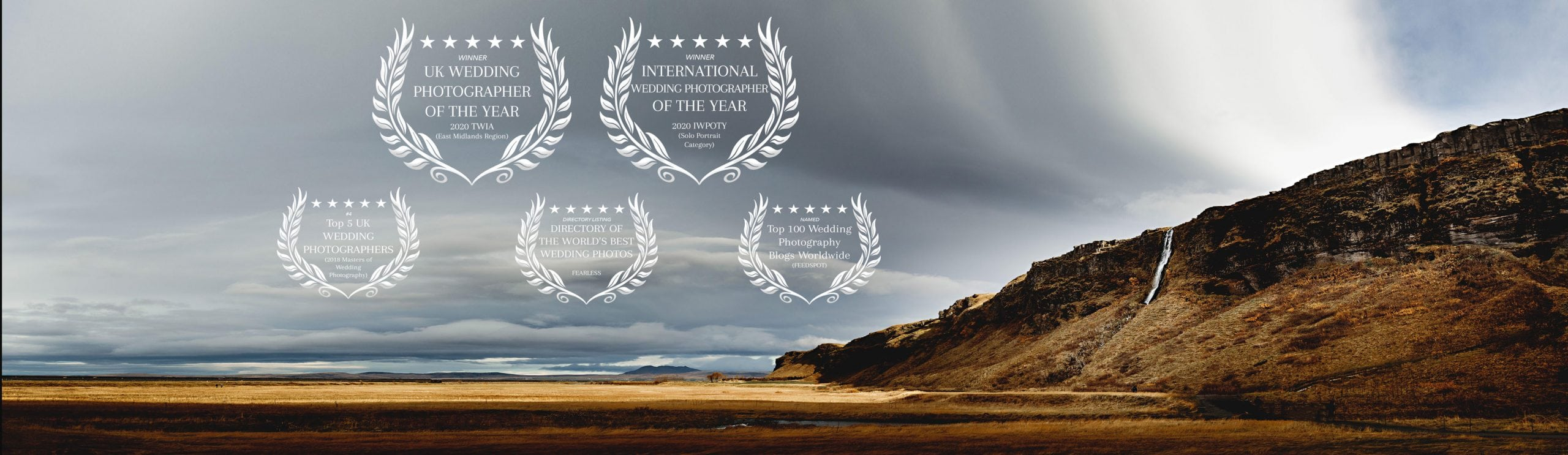 an iceland landscape showing all the international awards won by derbyshire wedding photographer hba photography