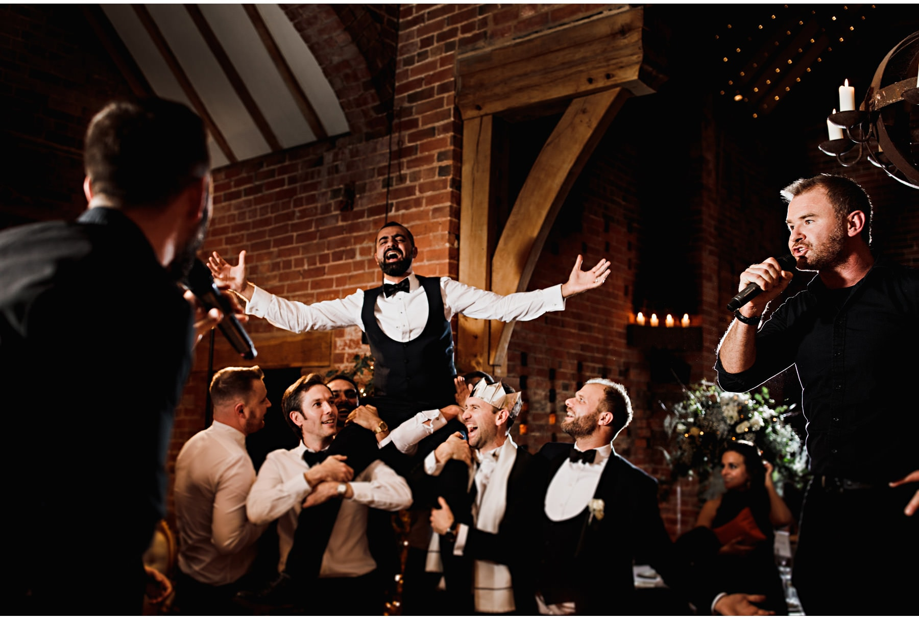 The singing waiters at Shustoke Barn