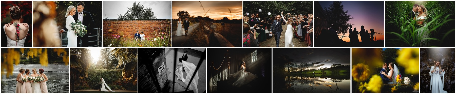 a collection showing the range of different photos available at weddings in Derbyshire