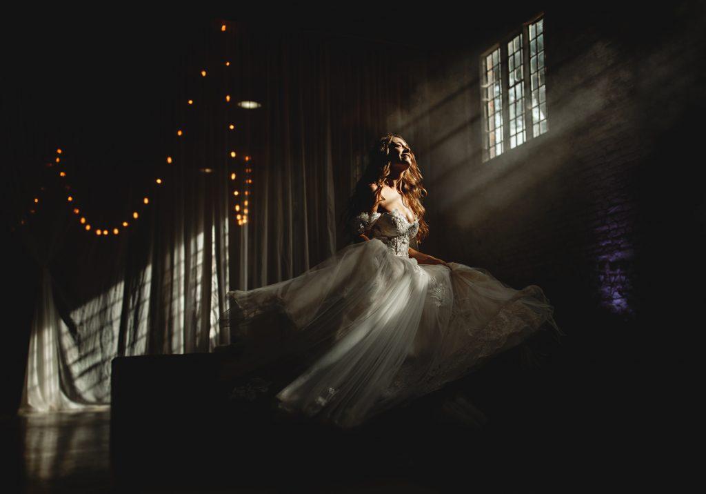 bridal portrait at a derbyshire wedding venue. The perfect place as a derbyshire wedding photographer